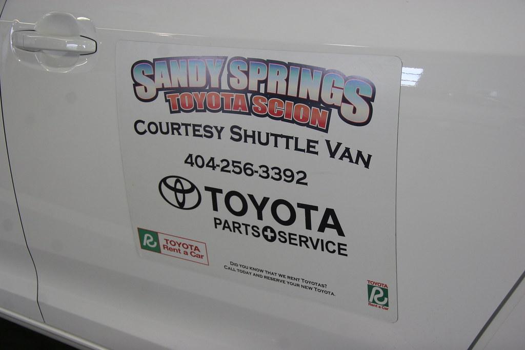 Courtesy Shuttle Van At Sandy Springs Toyota (Sandy Springs Toyota) Tags:  Atlanta Toyota