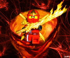 Ninjago Kai! (chrisofpie) Tags: chris red pie fire lego ninja kai legos heat redninja ninjago chrisofpie spinjutsu