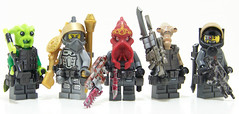 Space Barf (Silenced_pp7) Tags: brick star arms lego space police mini camo atlantis prototype figure wars minifig custom figs maul proto xeno minifigure mercenaries mercenary g36 brickarms killstrike dp28 minifigcat bloopgun figcat