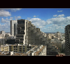 La Dfense (Philippe2032 from Paris) Tags: urban panorama france architecture cityscape ladfense density courbevoie hautsdeseine brutalisme banlieueparisienne logements areaofparis lesdamiers