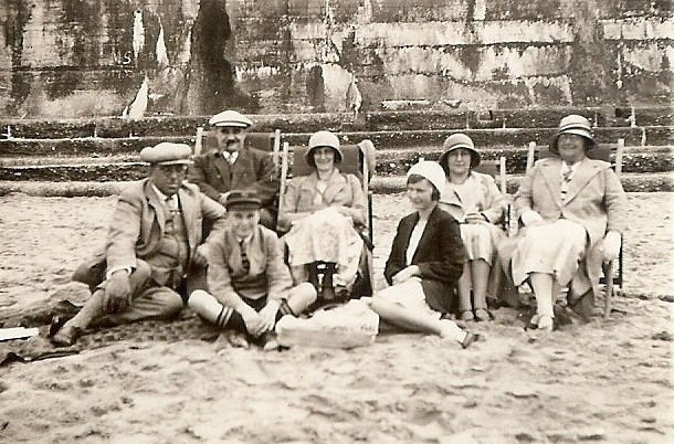 On the beach, possibly Bispham, Blackpool, 1930s