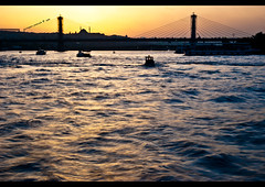 golden horn (giuseppe pascale) Tags: travel bridge blue light sky orange black water silhouette yellow architecture turkey grey boat colours istanbul mosque goldenhorn halic gpfoto sigma1770 nikond40 giuseppepascale giuseppepascalephotography