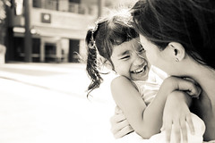 <3 (Huey Yoong) Tags: girl sepia laughing children mom familyportraits child natural emotion naturallight monotone parent childrensportraits peopleportraits nikond300 nikkor28300mmvr