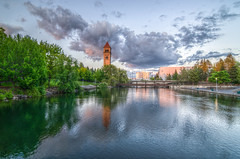 Spokane Clocktower and River (CraigGoodwin2) Tags: spokane clocktower spokaneriver downtownspokane