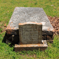 Thomas Franklin Johnson Grave - Beechwoods Cemetery, Northwest Arkansas (danjdavis) Tags: cemetery tombstone gravestone arkansas quotbeechwoodscemeteryquot