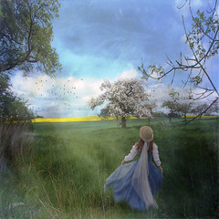 Walk in the spring (Mara ~earth light~) Tags: texture nature photoshop spring expression walk talent gift creativecommons abundance enjoyment ourtime contemporaryartsociety dontworrybehappy mara~earthlight~ artcityart