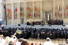 Cal Commencement Ceremony (prayitno) Tags: california ca greek berkeley university theater day graduation ceremony william cal donation commencement uc randolph herst donated konomark