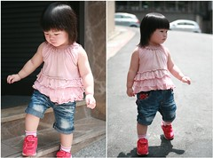 Hi~Zorie. Let's go eat brunch. (Zorie Huang) Tags: morning light portrait baby cute girl canon naughty asian kid infant child innocent taiwan nike lovely taiwanese oneyearold nikesneakers zorie
