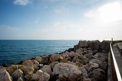 distant ships (*magma*) Tags: panorama landscape harbor rocks mare riva porto di navi far paesaggio scogli traghetti lontano traiano