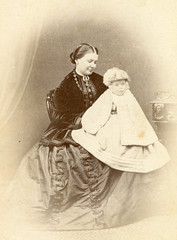 Mother and child. 1860s. Edinburgh. (benicektoo) Tags: baby vintage scotland victorian motherhood motherandchild crinoline vintagephotographs foundphotographs