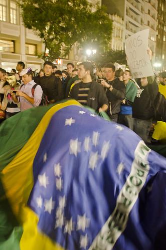 Protesto contra o aumento da passagem em Curitiba.