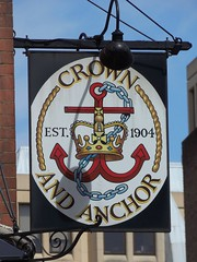 Crown & Anchor Pub, London (teresue) Tags: uk greatbritain england london pub unitedkingdom pubsign crownanchor londonpub 2013
