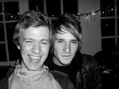 Self + Mark (Gary Kinsman) Tags: 2005 bw london bar night evening blackwhite pub saturdaynight laugh pout grin upperstreet lush highbury n1 highburyislington