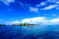 Bajo Village - Togian Islands (VincentDcs) Tags: blue sea canon indonesia landscape island photography boat photo village photos bajo sulawesi canon1022 togian 600d canon600d
