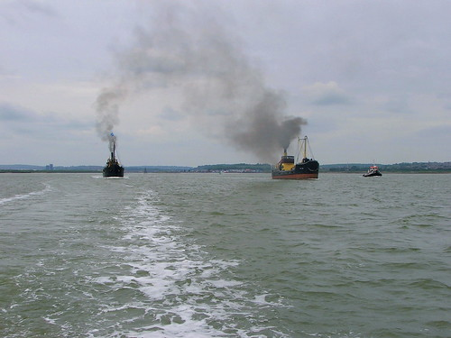 VIC 96 and VIC 56 steaming down Medway