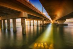 Double Cross (ckalm) Tags: longexposure bridge crossing florida stuart nd nik hdr waterscape coloreffects 10stopfilter