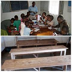 NEW CLASSROOM (harambeefoundation) Tags: africa bench children tanzania education classroom teacher chalkboard desks manyara holistic harambee mahoce