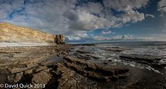 Nash Point (Monknash) panorama (3 of 18) (DavidQuick) Tags: panorama beach wales coast rocks cliffs glamorgan lowtide stitched nashpoint monknash