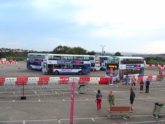 First For London Park And Ride Site, Weymouth, August 2012. (Iveco 59-12) Tags: olympics weymouth firstgroup wrightbus volvob9tl eclipsegemini2 firstforlondon