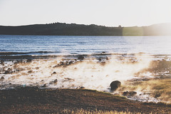 haze. (Li Anne Liew) Tags: ocean travel sea newzealand lake mountains beach nature beautiful canon photography scenery earth scenic greens nz photosho 550d t2i