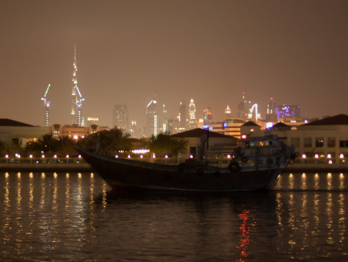 Dhow and skyline