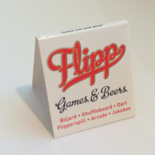 Fystikker laget for Flipp Games & Beers
