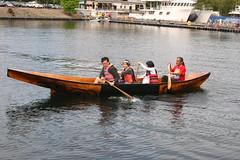 IMG_9727 - Seattle WA - Lake Union - The Center for Wooden Boats - 2010 Wooden Boat Festival - Haida canoe STEVE PHILIPP with its maker, Saaduuts, at the stern (BlackShoe1) Tags: seattle boats boat washington canoe wash pacificnorthwest wa lakeunion woodenboat washingtonstate cwb haida boatshow kingcounty woodenboats southlakeunion stevephillips thecenterforwoodenboats saaduuts