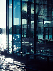 Meripaviljonki (miemo) Tags: sea sunlight water glass architecture finland restaurant spring helsinki europe olympus voigtlnder omd hakaniemi voigtlndernokton425mmf095 em5mkii meripaviljonki