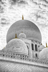 Golden Point (shrishphotography) Tags: travel light sunset blackandwhite white black architecture canon photography gold golden design media dubai arch graphic cloudy uae middleeast arches mosque architectural abudhabi commercial approved domes cloudporn goldenhour islamic nationalgeographic digitalphotography blackandwhitephotography natgeo architecturalphotography 2015