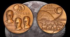 APOLLO 14 Medal FRONT (mickyh2011) Tags: bronze medal apollo14 ralphjmenconi