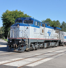 AMTK#517 GE P32-BWH ROSTER GALESBURG,IL 9-22-13 SUNDAY (penn central 74) Tags: amtrak roster markerlights galesburgil 092213 gep32bwh amtk517