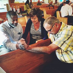 Praying for God's will to be done in our churches.