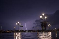 Single Bolt (iluketina) Tags: venice sky cloud water lightning