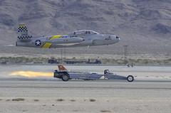 Jet Race (dcnelson1898) Tags: 2016aviationnationairshow nellisairforcebase lasvegas nevada airshow airplanes militaryhistory unitedstatesairforce t33 trainer warbird