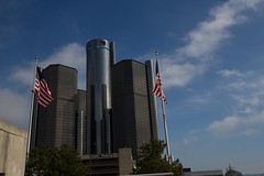 Detroit City and Ship-113 (That Girl, Teri) Tags: detroit rencen gmbuilding gm detroitriver