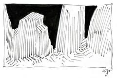Wolfram Zimmer: Pinnacles - Gipfel (ein_quadratmeter) Tags: wolfram zimmer bilder kunst malerei zeichnung images foto photo fotos photos gemlde wolframzimmer konzeptkunst objektkunst meinzimmer freiburg burgbirkenhof kirchzarten ausstellung ausstellungen pinsel tusche ink dessin exhibition exhibitions drawing landschaft landscape improvisation gebirge mountains
