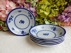 Spode Cereal Bowls ~ New Stone ~ Gloucester Y2989 (Donna's Collectables) Tags: spode cereal bowls new stone gloucester y2989 thanksgiving christmas