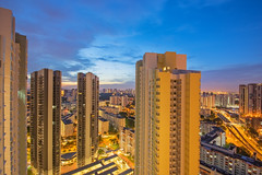 DSC04987-HDR-Edit_LR (teckhengwang) Tags: sunrise from clementi singapore landscape hdb