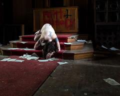 Still Life (sadandbeautiful (Sarah)) Tags: me woman female self selfportrait abandoned church abandonedchurch altar pennsylvania