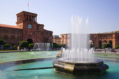 Singing fountains of Republic Square, Yerevan