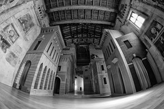 Beautiful scenography (drugodragodiego) Tags: sabbioneta mantova lombardia italy scenography teatro theatre architecture art blackandwhite blackwhite bw biancoenero buildings pentax pentaxk3 pentaxiani samyang samyang8mmf35umcfisheyecsi samyang8mmfisheye samyang8mm pentaxart