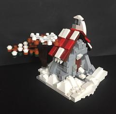 Tiny stone cottage, snow version (askansbricks) Tags: lego moc legomoc stone cottage house