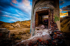 Bottom of the stack. (yeahwotever) Tags: apocalypse graffiti abandoned bunker concrete disused early lime mess oregon silo states structure sunrise tag tower usa