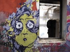 Graffiti, Lady (timm999flickr) Tags: menorca balearics army barracks abandoned sea thunderstorms iridiumflare anticrepuscularrays sunrise sunset montetorre alcaufar graffiti portraits birthday bassaverde stlluis calaenporter salgar mammatus startrails