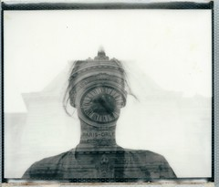 Wake up (marion (milky soldier)) Tags: polaroid polaroidweek polaroidweek2016 roidweek doubleexposure spectra morning clock impossibleproject 1212project paris orsay