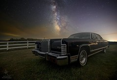 """Continental"" by Aaron J. Groen  @homegroenphotography  HomeGroenPhotography.com 500px.com/AaronGroen (HomeGroenPhotography) Tags: instagramapp uploaded:by=instagram lincoln continental chrome oldcar coolcar black astronomy astrophotographer astrophotography milkyway space"