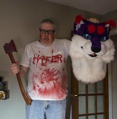 R.I.P Hazard (The Midnight Mouse) Tags: beheaded axe blood murderer halloween cosplay fursuit lynx