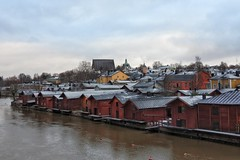 The roofs of historic Porvoo (KaarinaT) Tags: porvoo oldtownporvoo finland roofs skyline river