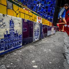 Escadaria Selarn (MastaBaba) Tags: brazil brasil riodejaneiro rio escadaria selarn escadariaselarn selaron steps selaronsteps delft netherlands stadhuis city hall stairs tiles 20161009