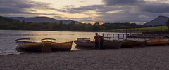 Two Heads Are Better Than One. (kathharper23) Tags: lakes keswick dusk boys boats shore